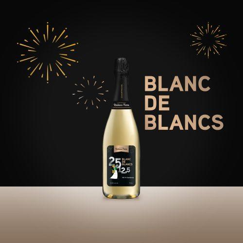 Blanc de blancs – 100% chardonnay