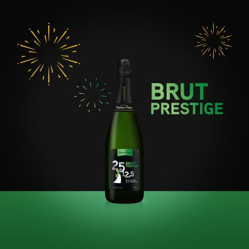 Brut prestige – 80% pinot noir, 20% chardonnay